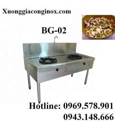 Bếp gas công nghiệp 2 bếp BG-02