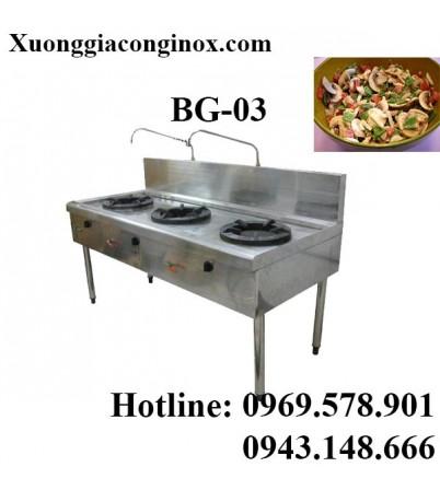 Bếp gas công nghiệp 3 bếp BG-03