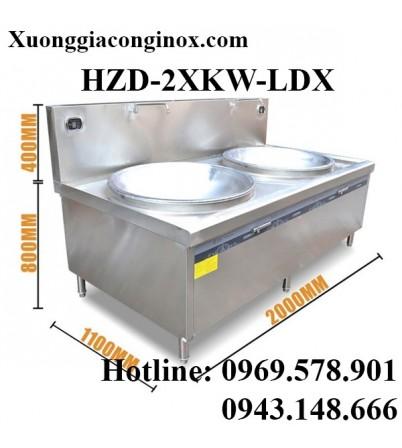 Bếp từ công nghiệp lớn mặt lõm đôi có vòi rửa 12-15-20-25KW HZD-2X12-15-20-25KW-LDX