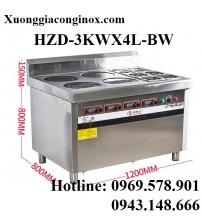 Bếp từ công nghiệp kết hợp bếp hấp 3-3.5KW HZD-3KWX4L-BW