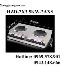 Bếp từ công nghiệp đôi lõm 3.5KW HZD-2X3.5KW-2AXS