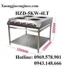 Bếp từ công nghiệp 4 mặt lõm có giá kệ 5KW HZD-5KW-4LT