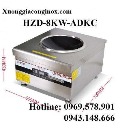 Bếp từ công nghiệp lớn mặt lõm có hẹn giờ 8-12KW HZD-8KW-ADKC