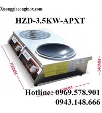 Bếp từ công nghiệp đôi 1 phẳng 1 lõm đặt âm 3.5kw HZD-3.5KW-APXT