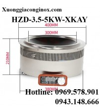 Bếp từ công nghiệp lõm đặt âm 3.5-5KW HZD-3.5-5KW-XKAY