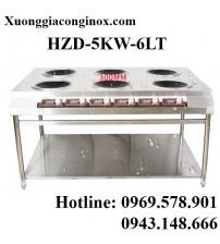 Bếp từ công nghiệp có giá kệ 6 mặt lõm 5kw HZD-5KW-6LT