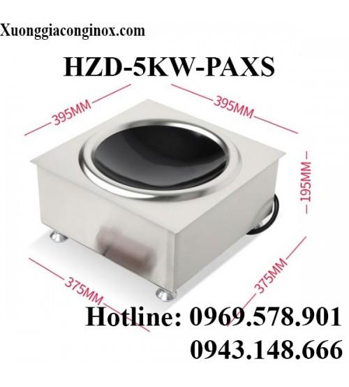 Bếp từ công nghiệp vuông lắp âm mặt lõm 5KW HZD-5KW-PAXS
