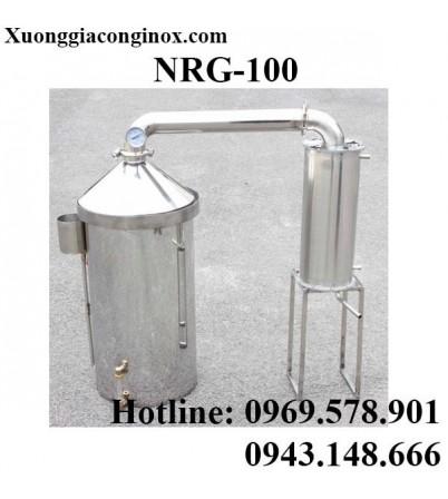 Nồi nấu rượu inox dùng gas, than, củi, bếp từ 100 lít NRG-100