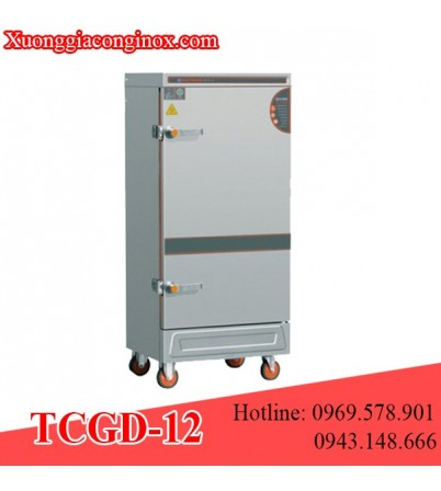 Tủ nấu cơm gas và điện 12 khay TCGD-12